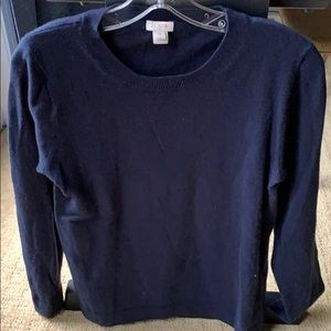JCrew Factory basic navy wool pullover sweater M